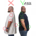 5Xl Before and After v-hals zwart